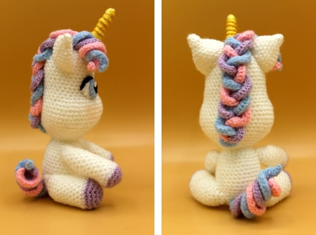 Rainbow Unicorn Amigurumi Pattern – Snacksies Handicraft | 460x620