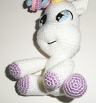 Crochet Unicorn Legs