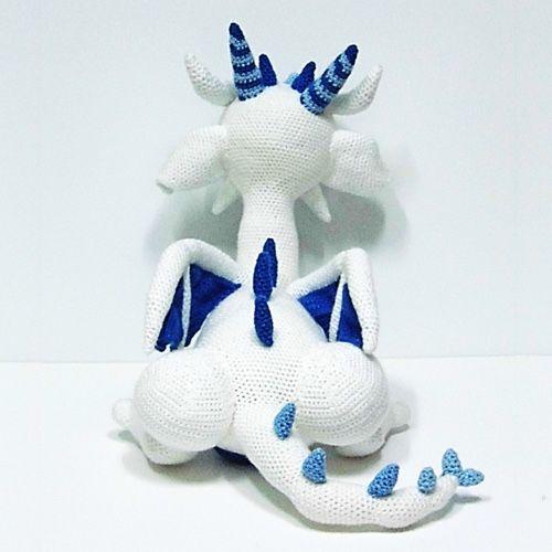Blummy the Dragon - Amigurumi PDF CROCHET PATTERN - Breien en ... | 500x500