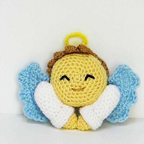 Angelo Amigurumi Tutorial Natale - Angel Crochet Christmas ... | 500x500