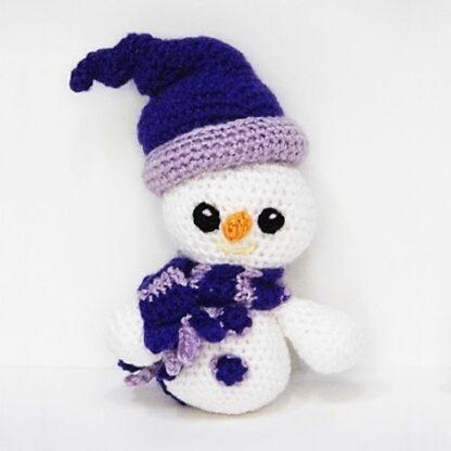 Patrón Muñeco de nieve a crochet