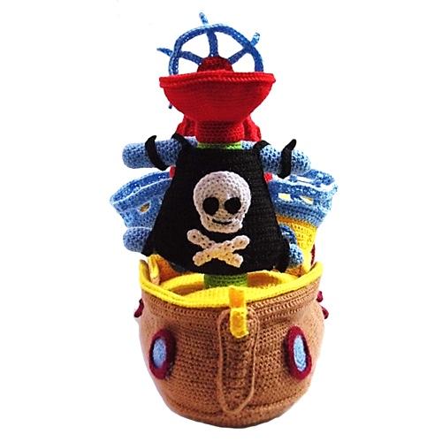 Crochet Pattern - PIRATE SHIP - Toys - in PDF (00464) | Boy ... | 500x500