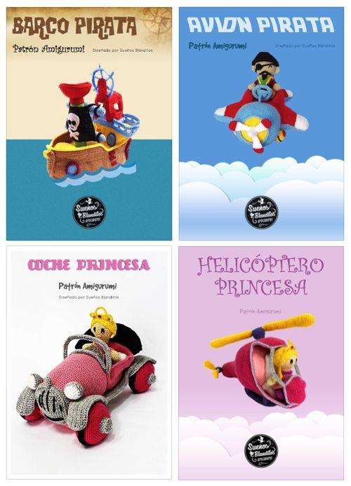 Patrones Barco Pirata, Avión, Coche Princesa y Helicóptero – Sueños ...