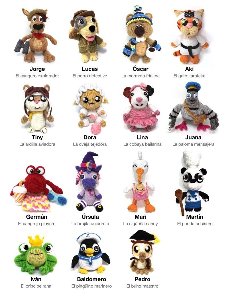 Animagumis: 15 Patrones para tejer animalitos de crochet – Sueños ...