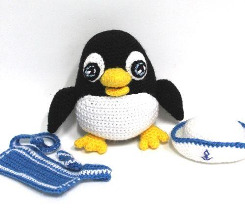 pinguino amigurumi uncinetto crochet tutorial schema gratis   434x500