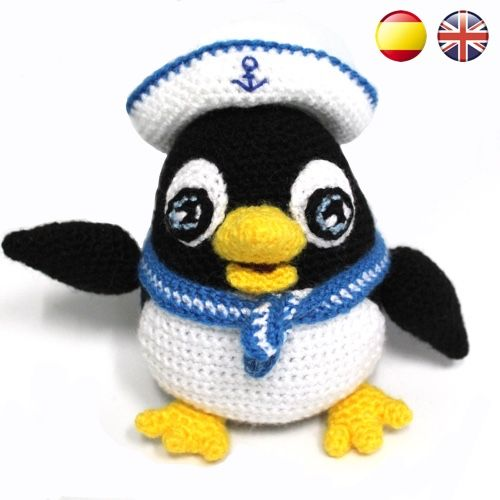 Baldomero The Sailor Penguin Pdf Amigurumi Pattern Sueños Blanditos