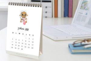 Calendario Amigurumi 2018 [Para Imprimir]