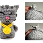 How to sew the different parts of our Amigurumi + Kitten Pattern