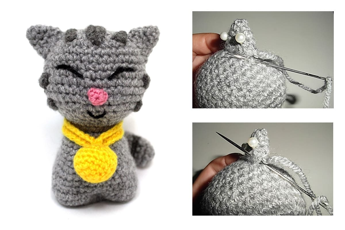 How to sew the different parts of our amigurumi + Kitten Pattern ...