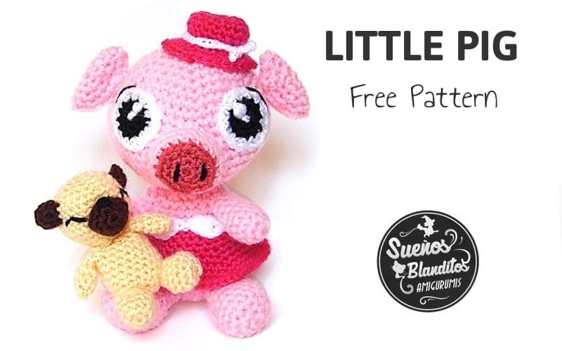 Little pig | Free amigurumi and crochet toy patterns | lilleliis | 500x800