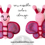 Practice the Reversible Color Change by Crocheting this nice Butterfly