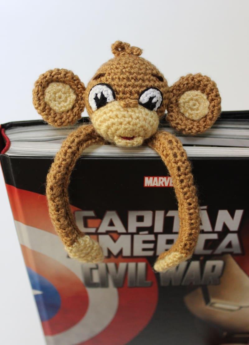 Amigurumi Monkey Bookmark