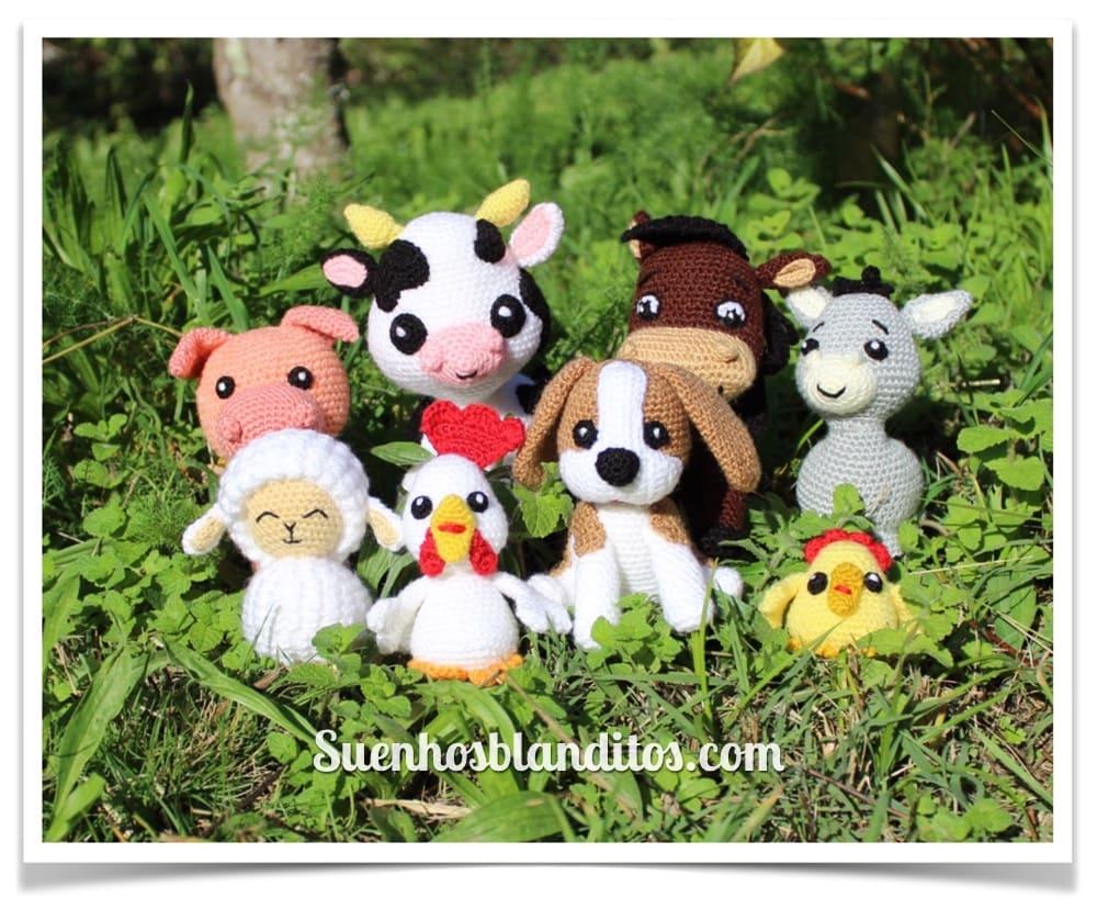 Amigurumis in the farm: 8 patterns to crochet farm animals
