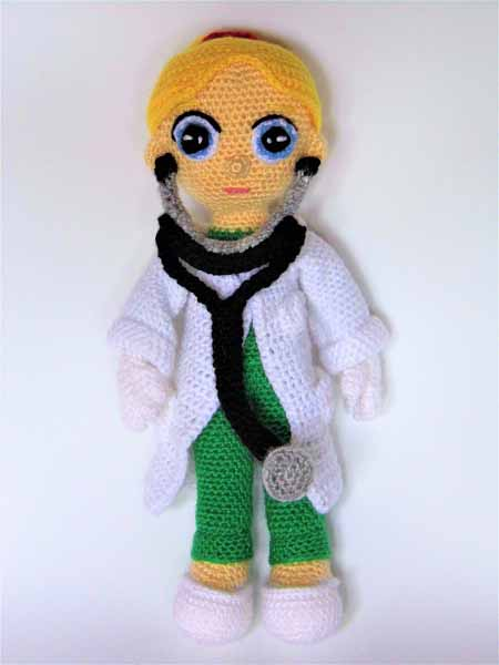 female doctor amigurumi pattern