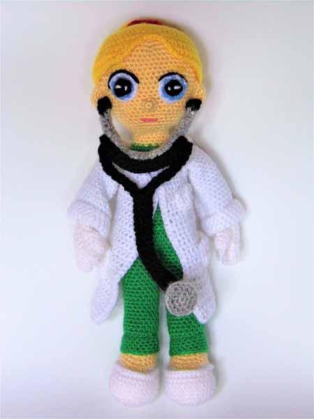 female doctor amigurumi pattern