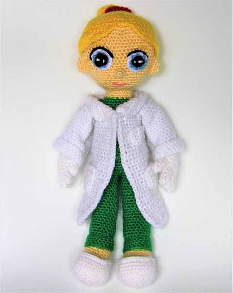 Crochet doll doctor | Crochet Toys - Author's crochet toys & patterns | 600x478