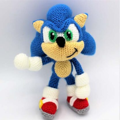 Image of Sonic the hedgehog amigurumi