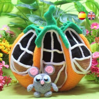 Pumpkin House amigurumi pattern