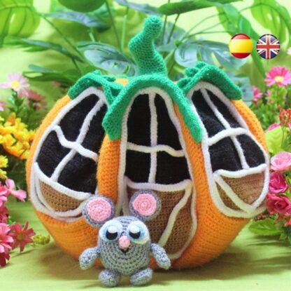 Pumpkin House amigurumi pattern