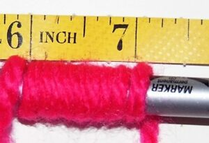 How to know the weight of the yarn